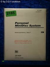 Sony Bedienungsanleitung ZS M30 Mini Disc System (#2185)
