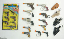 Lot Vintage Miniature Cap Guns - Toy Pistol, Revolvers, Luger, Automatic Holster