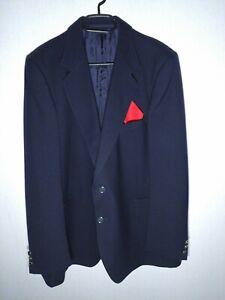 Veste blazer homme bleu foncé taille L