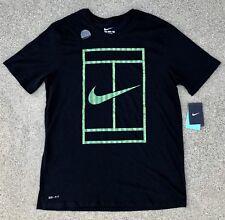 NWT 2015 Nike Tennis Wimbledon Grass Court Logo Tennis Shirt! SIZE L! FEDERER!