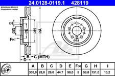 Bremsscheibe (2 Stück) - ATE 24.0128-0119.1