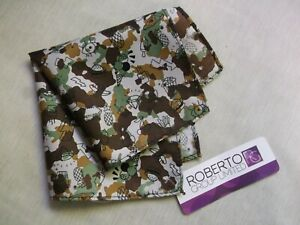 Hankie Pocket Square Handkerchief Hanky MENS ABSTRACT Green Brown