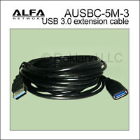 ALFA 16 ft USB 3.0 male/female type-A extension cable for AWUS036ACH AUSBC-5M-3