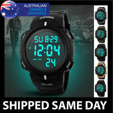 MENS WATERPROOF SKMEI DIGITAL SPORTS WATCH Gold Military Army Water Resistant 62