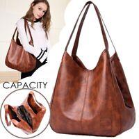 Women Fashion Soft PU Leather Large Capacity Satchel Lady Handbag  Shoulder Bag