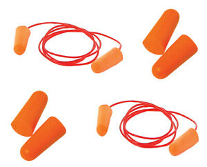 Silverline Ear Plugs SNR 37dB Corded & Uncorded 1-1000 Pairs Noise Protection