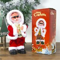 Christmas Electric Santa Claus Doll Dancing Music Toy Cute Christmas Plush Doll