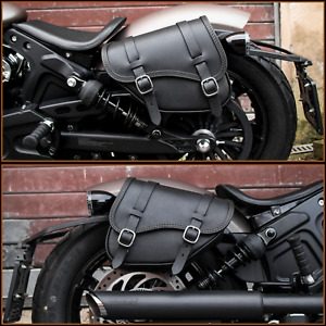 2018 - 2020 INDIAN SCOUT BOBBER  LEATHER SADDLEBAGS LEFT AND RIGHT ENDSCUOIO
