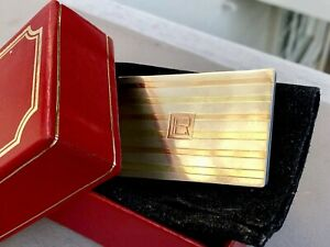 Cartier 30s Sterling Silver 14K Yellow Gold Business Card Case Notepad Box LR RL