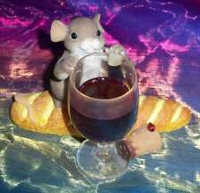 Retired As Is Fitz And Floyd Charming Tails Like Fine Wine Mouse Figurine 89/293