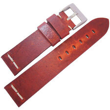 20mm ColaReb Roma Mens Red Distressed Leather Made in Italy Watch Band Strap