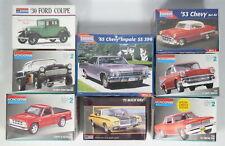 Lot 8 Monogram Model Car Kits 1:24 1:25 Scale Chevy Chevrolet Ford Buick Pontiac