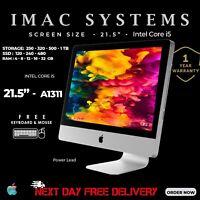 """CHEAP APPLE IMAC A1311 INTEL CORE i5 2nd GEN 21.5"""" WIFI WEBCAM KEYBOARD & MOUSE"""