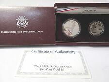 1992 US Olympic 2 Coin Proof Commemorative Set
