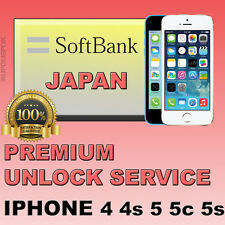 Softbank JAPAN PREMIUM Unlock Service iPhone 4 4s 5 5c 5s ALL IMEI