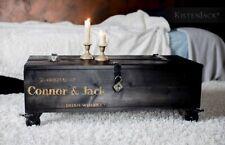 Truhentisch Couchtisch  Tisch Vintage Design Truhe Whiskeykiste Kiste