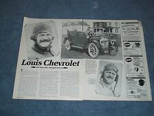 """Louis Chevrolet Profile History Article """"The Man Who Changed History"""""""
