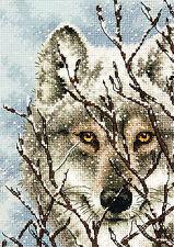 Cross Stitch Kit ~ Gold Collection Close Up Winter Wolf Portrait #70-65131