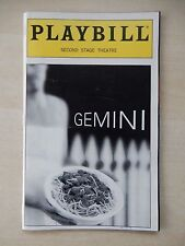 June 1999 - The Second Stage Theatre Playbill - Gemini - Linda Hart