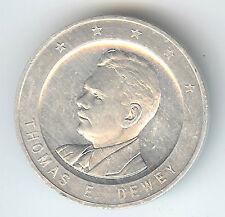 Thomas E. DEWEY & Earl WARREN Coin medalet