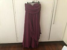 High Quality Plus Size Magenta Formal Dress