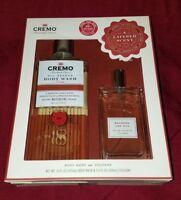 CREMO All Season Bourbon & Oak Body Wash And Cologne Gift Set