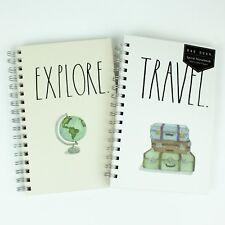 New Rae Dunn Travel Amp Explore Spiral Notebookjournal Set Of 2 Lined 85 X 55