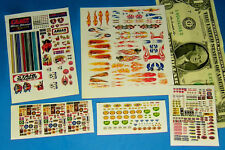 HO SLOT CAR Assorted CUT PEEL STICKERS STRIPES FLAMES GIRLS BP BIG STICKER SALE