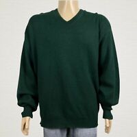 Cypress Links Golf V-neck Pullover Sweater 2XLT Tall Men's Dark Green Black Knit