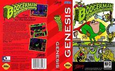 Boogerman Sega Genesis Ntsc Inserto de Arte de repuesto de reemplazo para Caja