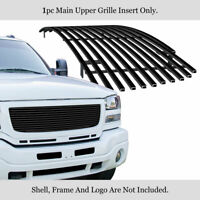 Fits 2003-2006 GMC Sierra 1500/2500/3500 Main Stainless Black Billet Grille
