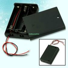 Black 3 AA Battery Holder Box Case With Switch EE4068 5764278