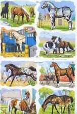 Victorian style decoupage scrap scrapbooking art projects Horse Horses ponys