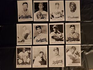 1961 Jay Publishing 5 X 7 Photo Cards Los Angeles Dodgers lot of 12 Koufax