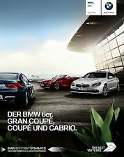 BMW 6 Coupe Cabrio 2016 catalogue brochure German int'l