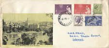 Stamps 1958 various on home made cover Brisbane Queensland to Lebanon, scarce