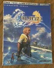 2002 Brady Games FINALY FANTASY X OFFICIAL STRATEGY GUIDE BOOK Signature Series