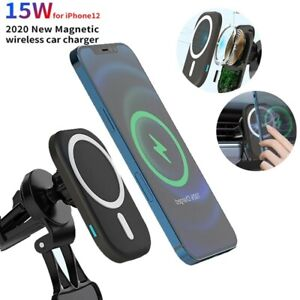 15W Mag Safe Car Wireless Fast charging Charger Holder For iPhone 12Pro Max Mini