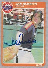 Joe Sambito Signed 1985 Fleer #360 Astros Pitcher Autograph