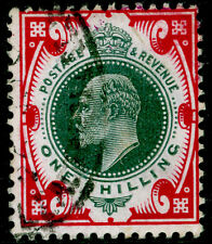Sg257a SPEC M46(-),1s dp dull green & dp bght carmine(CHALKY), FU.Cat UNLISTED.