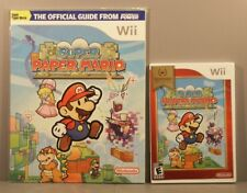 Super Paper Mario [Nintendo Selects] (Wii, 2011) NEW with Nintendo Power Guide