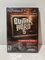 Guitar Hero 5 (Sony PlayStation 2 PS2) BRAND NEW FACTORY SEALED RARE Game Only