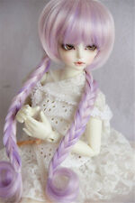 "7-8"" 1/4 BJD Wig Dal DD BJD SD LUTS DOD Dollfie Doll Wig Pink Purple Braid"
