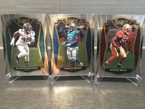 Panini Select lot of 3 Willis Chaisson Brown Panthers Jags 49ers NFL 2020 rookie