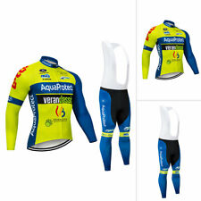 Men Cycling Sports Clothing Set Long Sleeve Bike Jersey Bib Pants Tights Kits