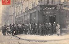 CPA 75 PARIS LE PERSONNEL DE LA MAISON J.CAMUS (cpa pas courante MAGASIN DE PLOM
