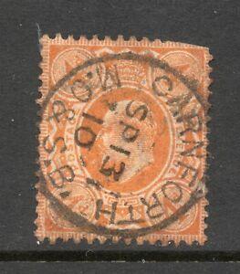 Edward VII 4d With Nice Carnforth MO & SB CDS Pmk - Money Order & Savings Bank