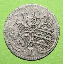 MAGMA Salzburg, Firmian, Halbkreuzer 1739, vzgl-.,  Z.2613, Pr.2169