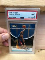 2005-06 Topps Finest #85 LeBron James (PSA 9) MINT  (Blue Version)
