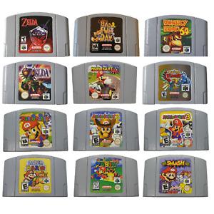 N64 Mario Party 1 2 3 Zelda Ocarina Majoras Super Paper Mario Smash Bros DK PAL